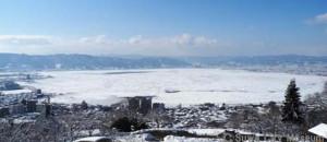 諏訪湖御神渡り 1